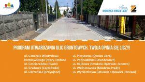 Konsultacje utwardzania ulic gruntowych